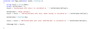 dynamic Variable Example