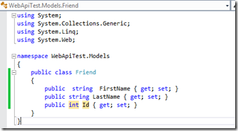 FriendModelClass