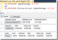 sp_spaceused_Update_Usage