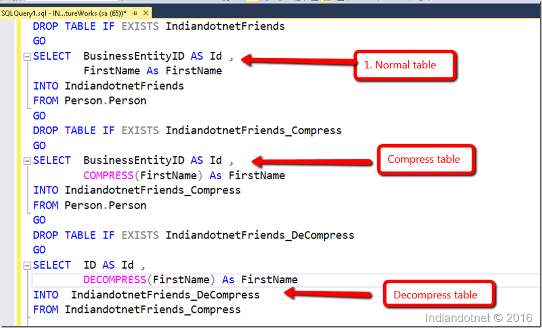 Indiandotnet_Compress_Decompress_Feature_SQL