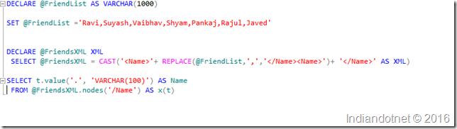 String_split_by_XML_SQL_SERVER
