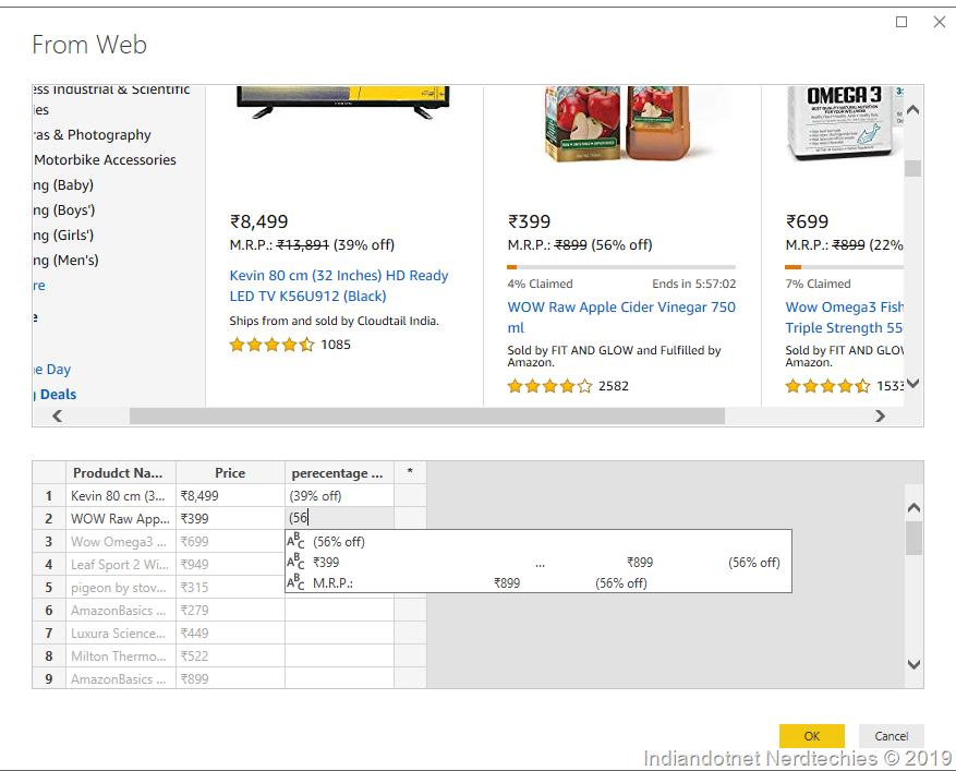 Web Scraping for Analysis using the Microsoft Power BI Tool
