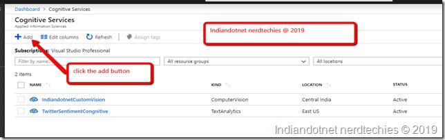 Indiandotnet_Cognitive_Service